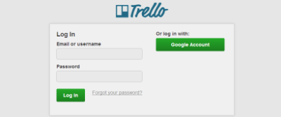 Log in with Trello